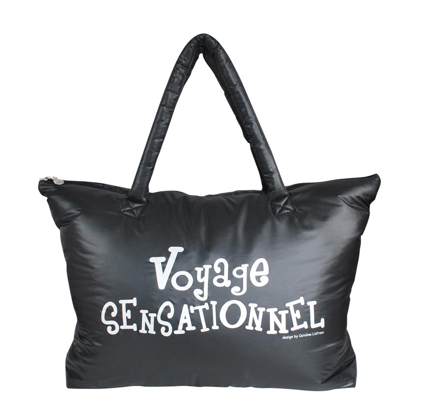 sac voyage sensationnel noir caroline lisfranc la boutique du voyageur. Black Bedroom Furniture Sets. Home Design Ideas
