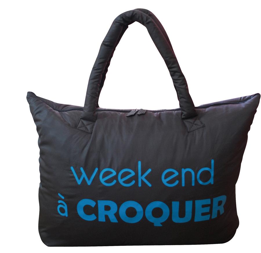 sac de voyage week end croquer caroline lisfranc la boutique du voyageur. Black Bedroom Furniture Sets. Home Design Ideas